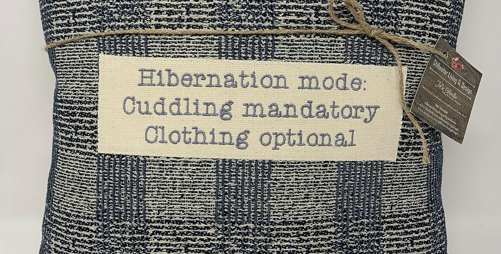 """15""""x15"""" Pillow - Hibernation Mode"""