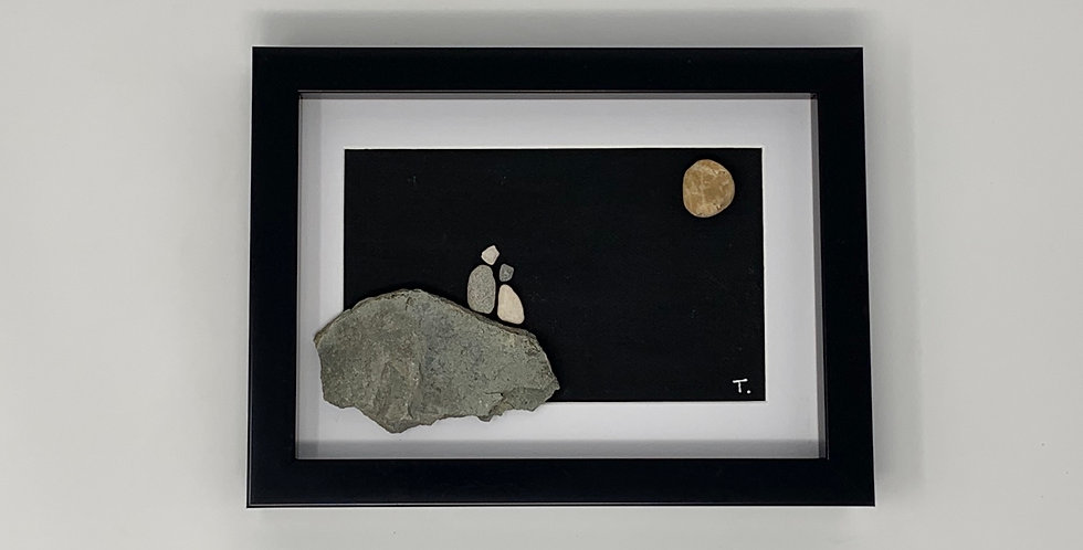 Couple Looking At The Moon