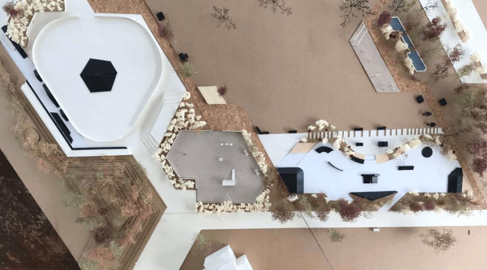 La maquette 3D réalisée par le Conseil des Adolescents de Créteil pour une zone multi-espaces