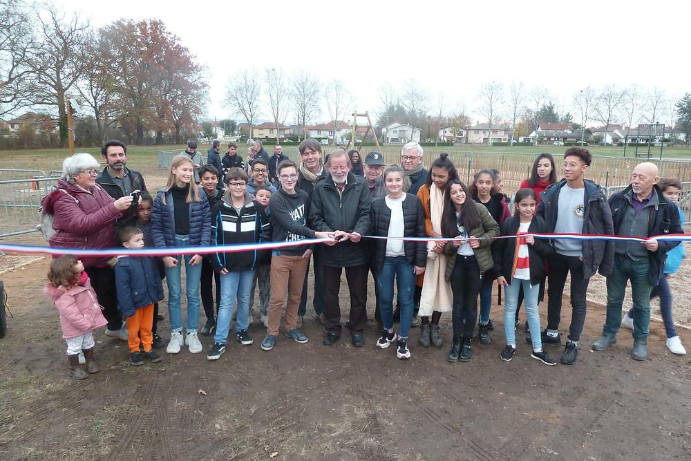 L'inauguration de l'espace ados au Parc Louise Michel de Mably