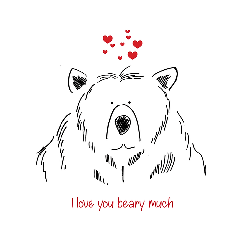 Add a free gift note - Valentine's Bear