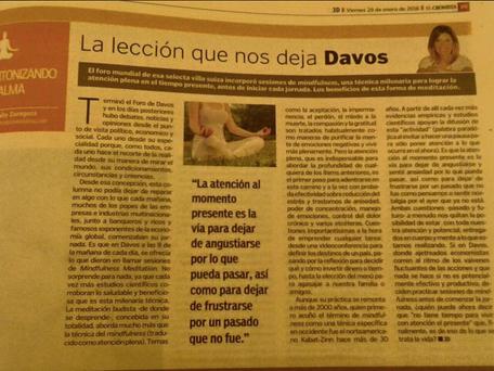 La lección que nos deja Davos