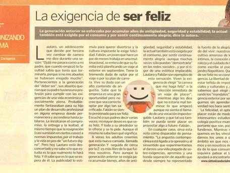 La exigencia de ser feliz