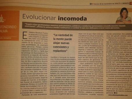 Evolucionar incomoda