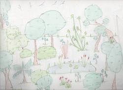 Dibujo del bosque comestible