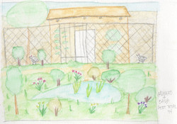 Dibujo del gallinero y biotopo