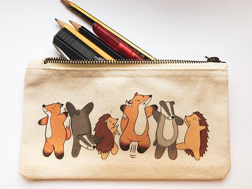 Badger and Friends Pencil Case