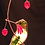 Thumbnail: Turned Hummingbird with Berries Stained Glass Suncatcher