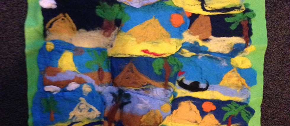 Ancient Egypt Project - wall hanging created by the children of St Paulinus Catholic Primary School in Dewsbury.