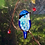 Thumbnail: Australian Fairy Wren Stained Glass Suncatcher