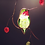 Thumbnail: Hummingbird with Berries Stained Glass Suncatcher