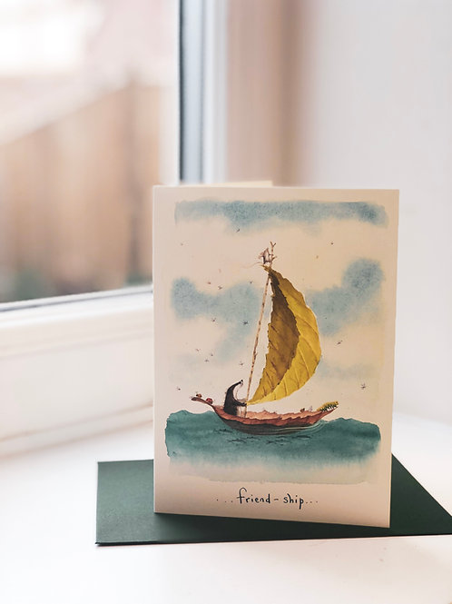 Friend'ship' Greeting Card