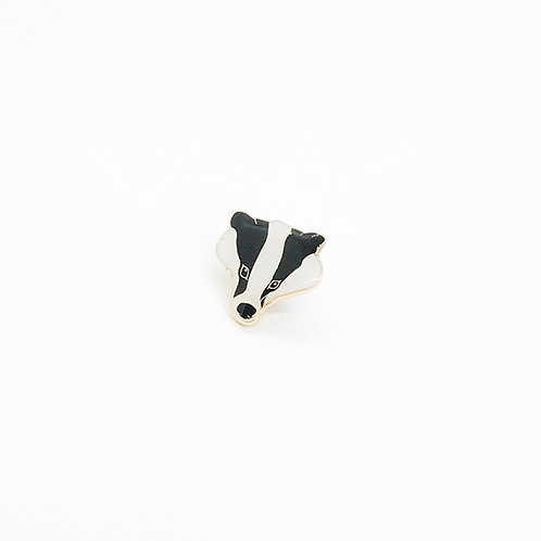 Barry the Badger Head Pin