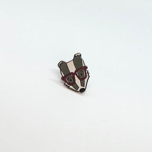 Nerdy Badger Pin