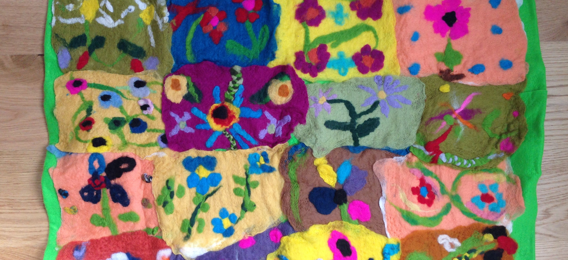 William Morris wall hanging created by the Year 5 children of St John the Baptist Primary School in Spalding.