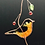 Thumbnail: American Robin Stained Glass Suncatcher