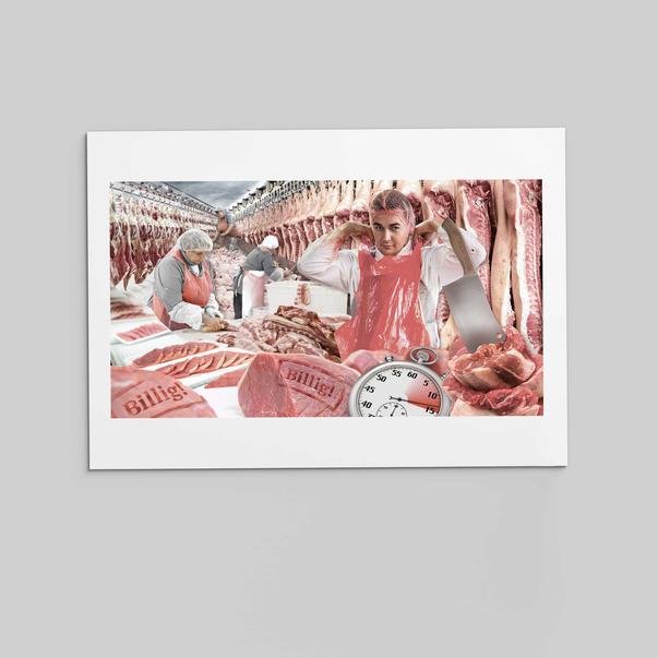 """Collage """"Fleischwirtschaft und Arbeitsschutz"""""""