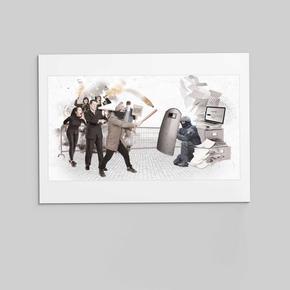 """Collage """"Polizei und Arbeitsschutz"""""""