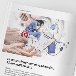 """Collage """"Pflege und Arbeitsschutz"""""""
