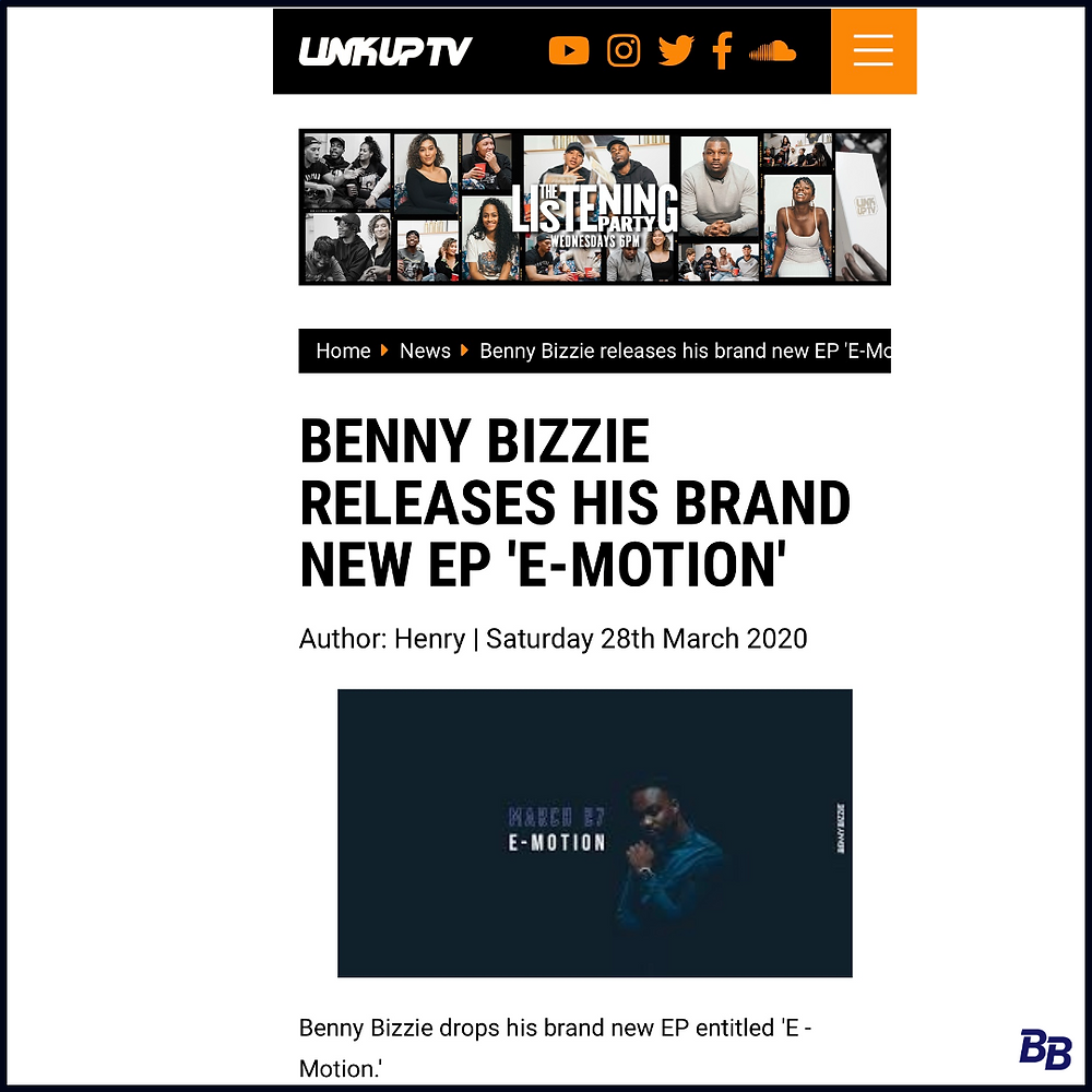 UK R&B Artist is trending now on music magazine Link Up TV