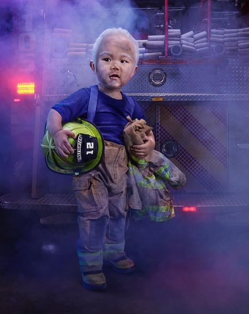 Tiny firefighter