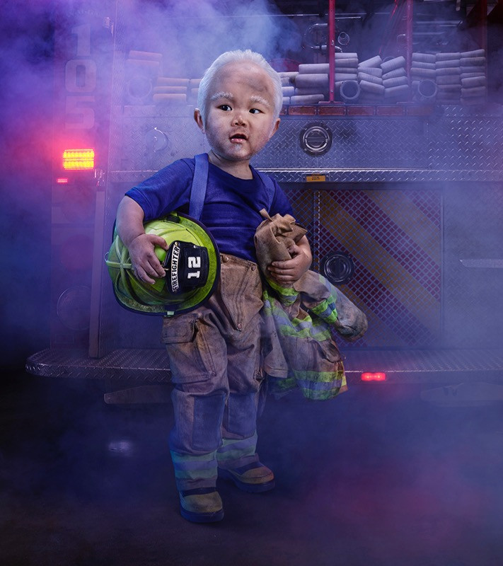 Tiny firefighter