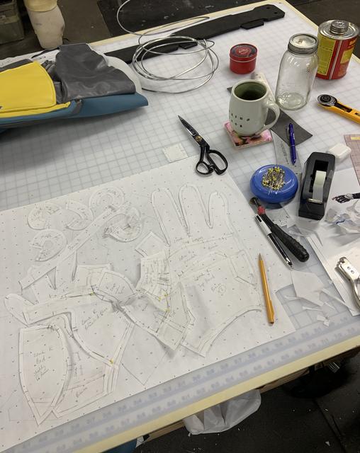Pattern making gloves