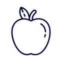 An apple icon to symbolize education. This goes to the Education page.