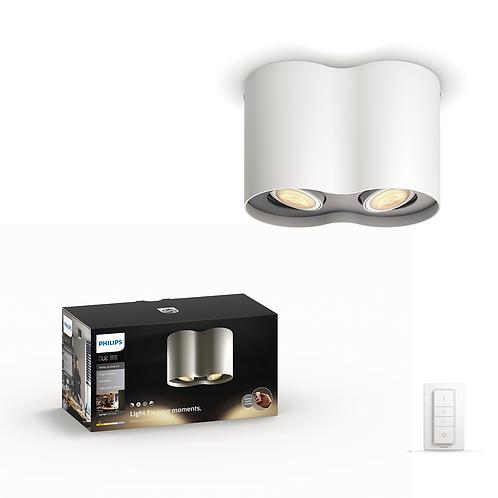 Philips Hue Pillar double LED spotlight 飛利浦柱狀雙筒聚光燈56332 2x5.5w
