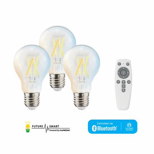 FL x AURORA smart A60 LED filament bulbs starter kit 智能藍芽黃白光LED燈泡套裝