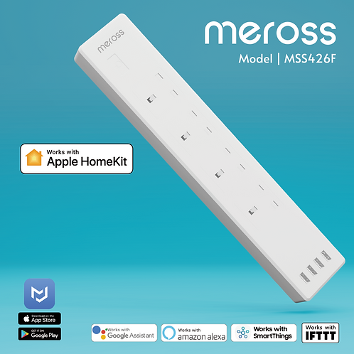 Meross MSS426F 4 outlet smart surge protector (Power Strip)
