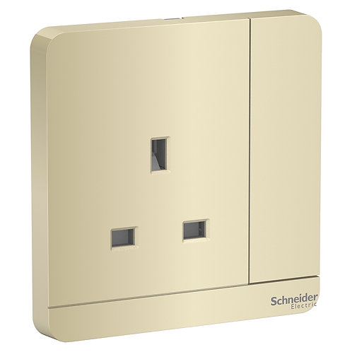 Schneider AvatarOn - E8315_WG_C5 - switched socket - 13 A -3P - Wine Gold