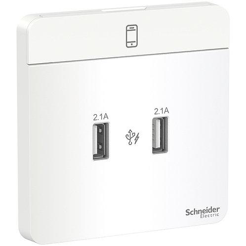 Schneider AvatarOn - E8332USB_WE_C5 - USB charger 2.1A White