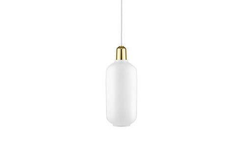Normann Copenhagen AMP pendant lamp Large (white/brass) 玻璃吊燈