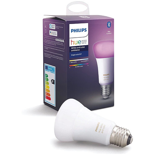 Philips Hue White and Colour Ambiance 9W A60 E27 Smart LED Bulb (Bluetooth)