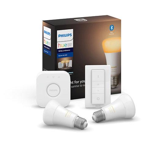 Philips Hue White Ambiance 8.5W A60 E27 Smart LED Bulbs set (Bluetooth)