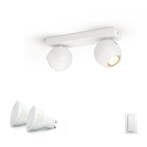 Philips Hue Buckram Double Spotlight 飛利浦雙頭聚光燈50472 2x5.5w