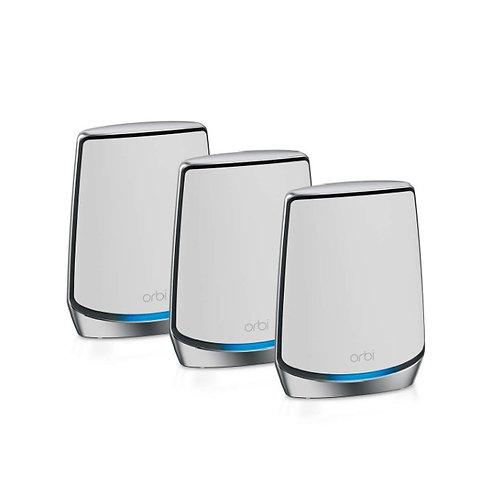 NETGEAR Orbi Mesh WiFi 6 旗艦級三頻路由器 3 件套裝 (RBK853)