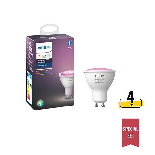 Philips Hue White and Colour Ambiance 5.7W GU10 Smart Bulb (Bluetooth) set