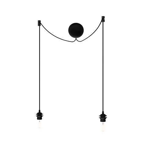 Umage Cannonball white/black cluster 2 E27 吊燈配件