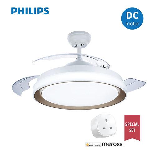 "Philips Lighting FC570 28W+36W DC Gold LED Ceiling Fan 42"" 飛利浦風扇燈"