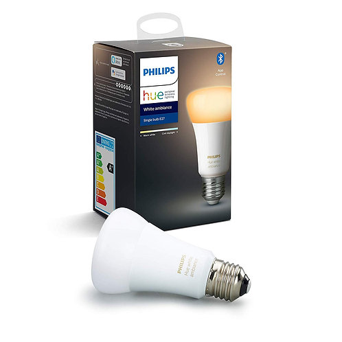 Philips Hue White Ambiance 8.5W A60 E27 Smart LED Bulb (Bluetooth)