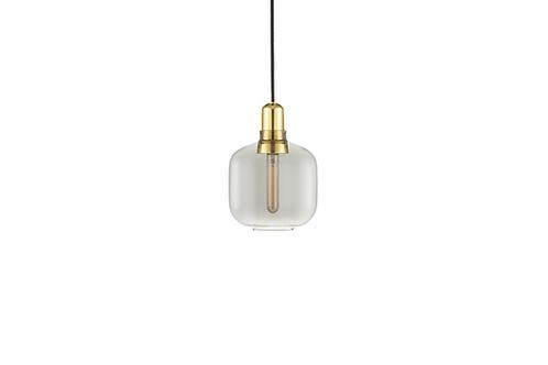 Normann Copenhagen AMP pendant lamp small (smoke/brass) 玻璃吊燈