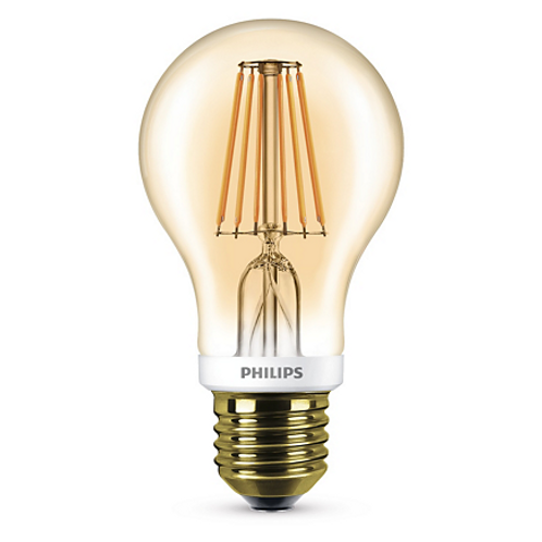 Philips LED Classic Bulb 7.5-60W A60 E27 2000K GOLD APR 8718696574836燈泡