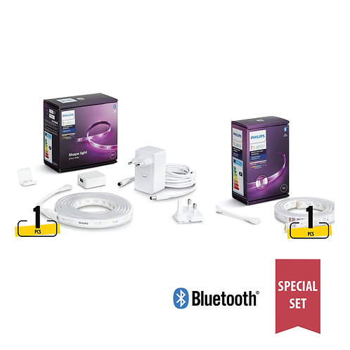 Philips Hue White & Colour Ambiance LightStrip (Bluetooth) special 3M set