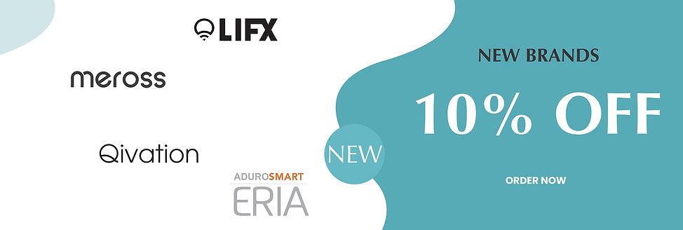 New Brands 10% Off Offer for LIFX, MEROSS, QIVATION, ADUROSMART ERIA
