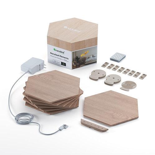 Nanoleaf Elements Wood Look Hexagons - Smarter Kit (7 Light Hexagons) 木紋智能家居燈板
