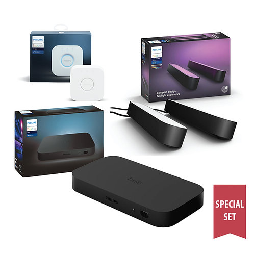 Philips Hue Play HDMI Sync Box with Play Bar (double) special set