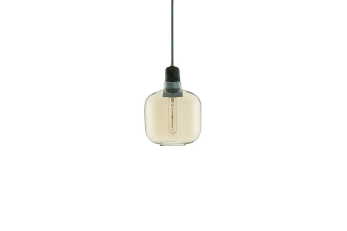 Normann Copenhagen AMP pendant lamp Small (gold/green) 玻璃吊燈