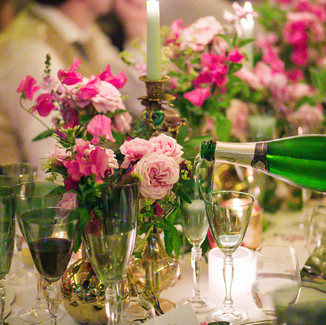 Champagne and Sweet Peas